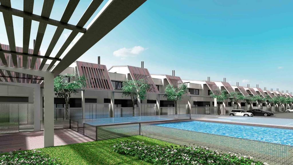 residencia con piscina privada en Sevilla